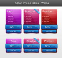 Color Pricing Table by vennerconcept