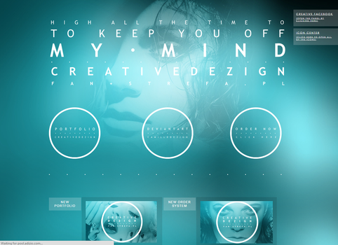 CreativeDezign.fan-strefa.pl // Home page design. by camilledezign