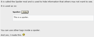 Spoiler Mod for phpBB by dra2k4