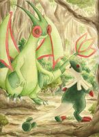 flygon and Breloom by Shandria