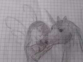 girl and horse by patita297