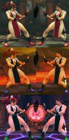 USF4 Mod - Chun Li: Mai Shiranui Cosplay (Shoes) by Segadordelinks