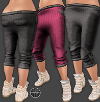 AngelRED Couture - Mesh Jessie Capris by BloodAppleKiss