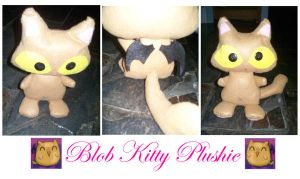 Blob Kitty Plushie by BakaMichi