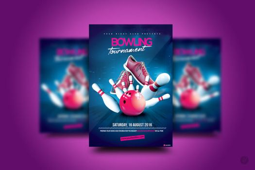 Bowling Tournament Flyer by YczCreative