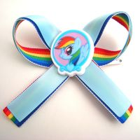 Rainbow Dash My Little Pony Hair Bow Ribbon by GeekStarCostuming