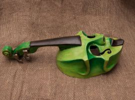 79) Green Contrabass - 2 by Edward-Jekyll