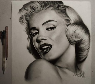 Original Marilyn Monroe Portrait by sjhowell11