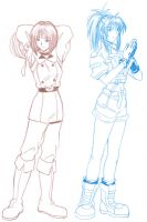 oldies KOF99 Leona and Whip by Tamura