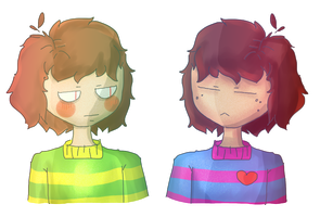Frisk and Chara by Ravinah