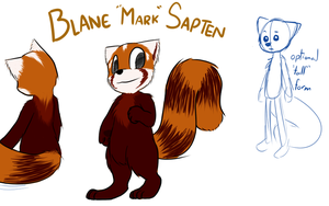 Blane the Red Panda by VedtheFlameDevil