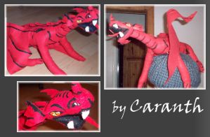Red Dragon Plushie by Caranth