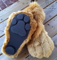 Commission - German Shepherd Feet Paws (bottom) by TigeroftheWinds