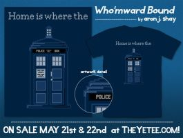 Who'mward Bound: Doctor Who Shirt by AronDraws