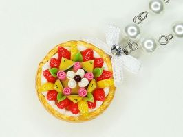 Fruit Tart Pearl Necklace by SweetandCo