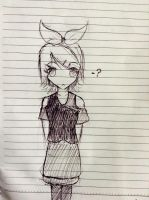 Seyo is Bored: Rin Kagamine in Pen by UnitInfinity