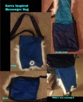 Handmade Korra Inspired Messenger Bag by Baconette