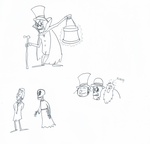 Three Sketches by ScroogeMacDuck