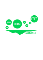 For Freedom Christ Has Set Us Free - Galatians 5:1 by tylerneyens