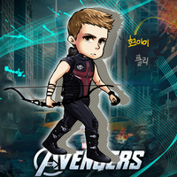 SD Hawkeye Clint Barton in AVENGERS by ButterRolli