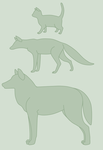 A Cat, Fox, and Wolf by StapledSlut