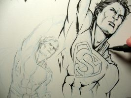 Superman doodles by Lehanan