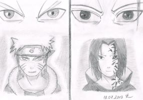Naruto vs Sasuke by sianagalaxy