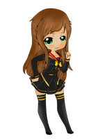 [ COM ] Chibi Sora - Uniform are totally cute ! by CaptainMisuzu