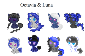 Luna x Octavia Foals 5 points each -CLOSED- by Rainbow-Fluffy