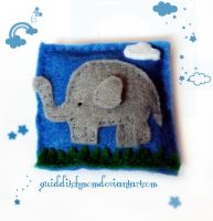 elephant plushie magnet by quidditchmom
