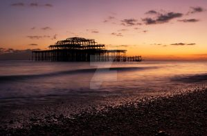 Brighton West Pier by Lolita-Leistromaite