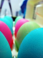 Carton Of Dyed Eggs II by LDFranklin