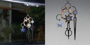 Light Blue Steampunk Sun Catcher v2- SOLD by YouniquelyChic