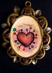 Pin Cushion Heart by paran0idhuman0id