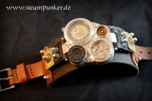 Steampunker - steampunk armbanduhr, wrist watch 02 by steamworker