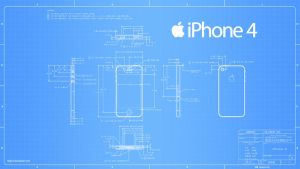 iPhone 4 Blueprint - 2560x1440 by Regivic