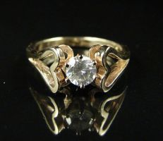 Gold Hearts Engagement Ring by gumgod