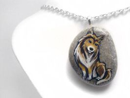 Rough Collie Pendant Necklace by sobeyondthis