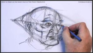 Draw An Old Man's Face In Two Point Perspective 25 by drawingcourse