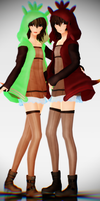 [MMD Download] Chespin Gijinka by Supurreme