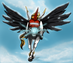 Digimon . Unimon . Aerial Attack by ShadowCatsKey