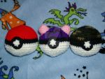 Crochet Pokeball Plushie Set by Taikxo