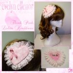 Think Pink Lolita Headdress by EveElle