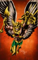 Savage Hawkman ISSUE #0 Cover by MarcBourcier