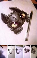 Toothless watching you by CKibe