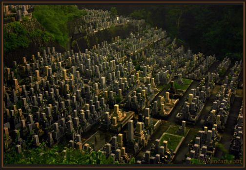 Graves at Night by cwfineart