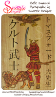 Celtic Samurai Pyrograph (Wood Burning) by snazzie-designz
