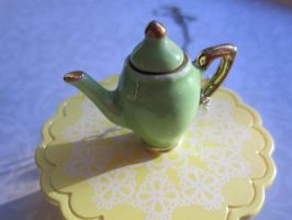 Green Tea Pot by CandyChick