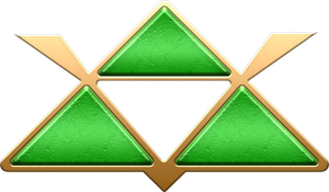 ALTTP Green Triforce Decoration by BLUEamnesiac