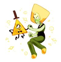 Bill + Peridot by kutaraa